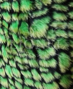 FUR PRINTED CROCODILE GREEN