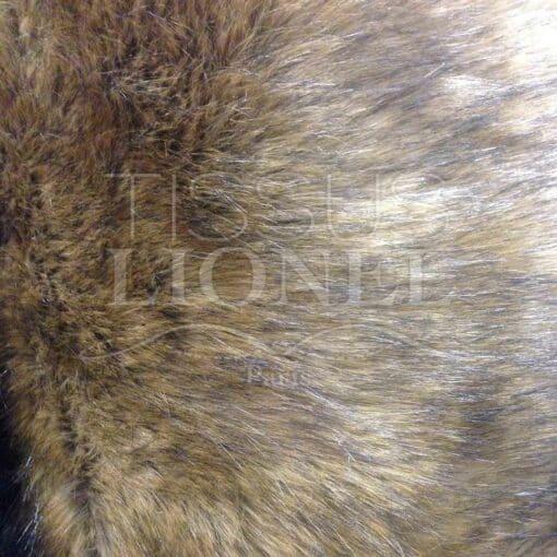 fourrure imprimé haut gamme lion sauvage