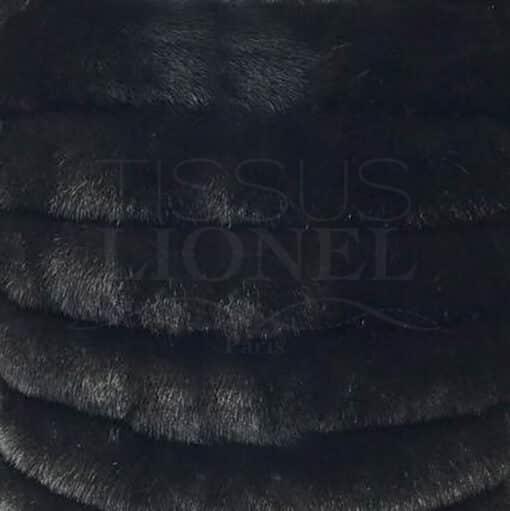 fourrure imprimé haut gamme vison noir