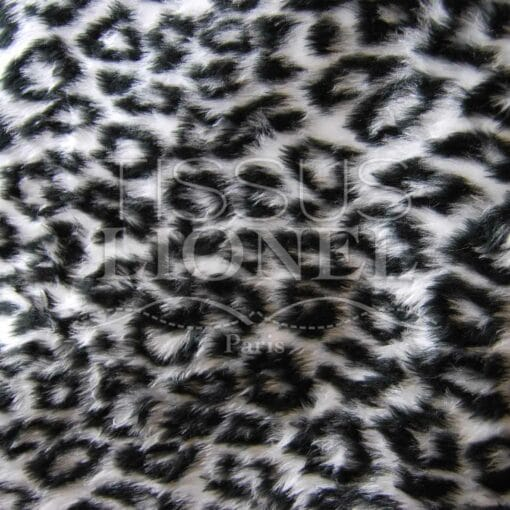 fourrure imprimé panthère blanche