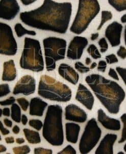 fourrure imprimé velboas girafe