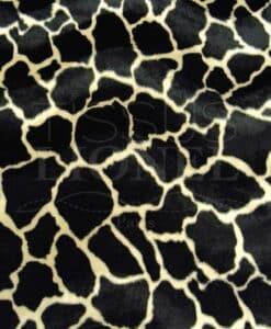 fourrure imprimé velboas girafe beige