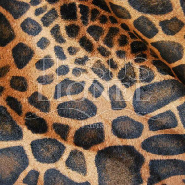 fourrure imprimé velboas savana girafe