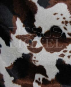 printed fur velboas brown cow