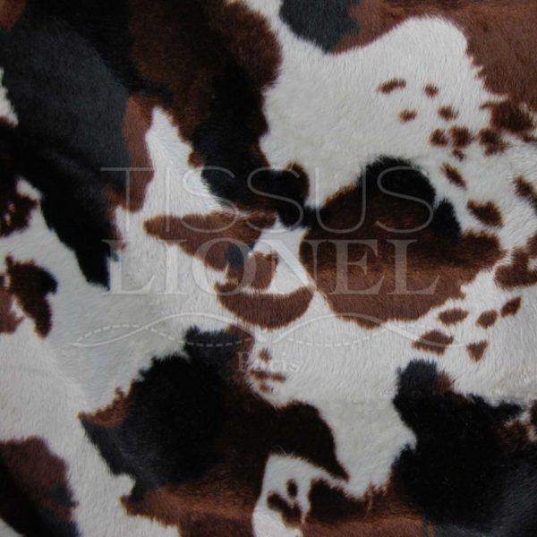 fourrure imprimé velboas vache marron