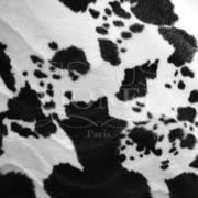 fourrure imprimé velboas vache noir et blanc
