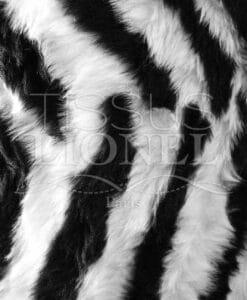 gedrukte zwart-wit gestreepte vacht