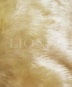 fourrure poil court écru