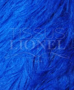 FUR COAT LONG ROYAL BLUE