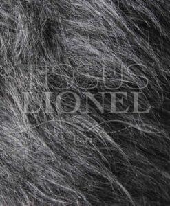 fourrure poil long gris