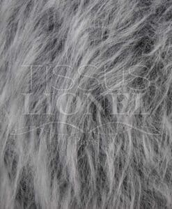 FUR COAT LONG HEATHER GRAY