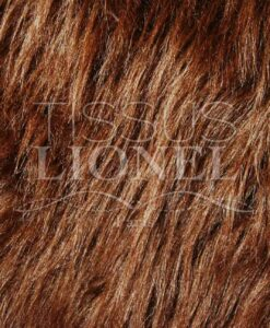 PELZMANTEL LONG BROWN