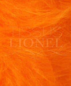 FOURRURE POIL LONG ORANGE FLUO