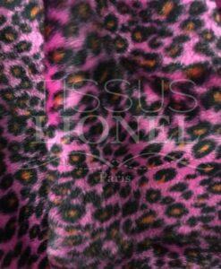 Fourrure velboas fucsia leopardo