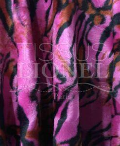 Fur velboas fuchsia Tiger