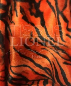 Fourrure velboas tigre orange