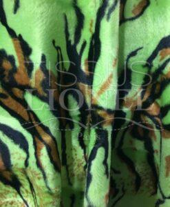 Piel velboas tigre verde