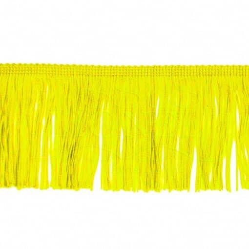 frange 10 cm jaune citron