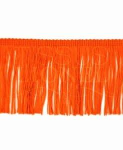 бахрома 10 см оранжевый флуо