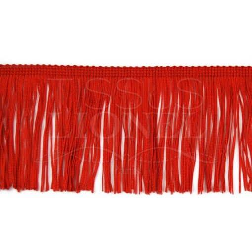frange 10 cm rouge
