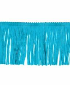frange 10 cm turquoise