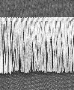 frange 15 cm blanc