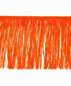 frange 15 cm orange fluo