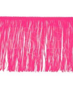 frange 15 cm rose fluo