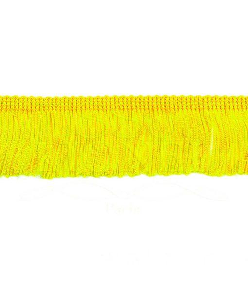 frange 5 cm jaune citron