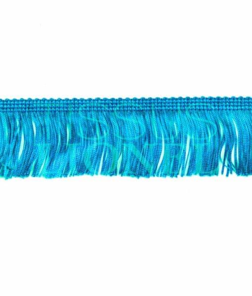 frange 5 cm turquoise