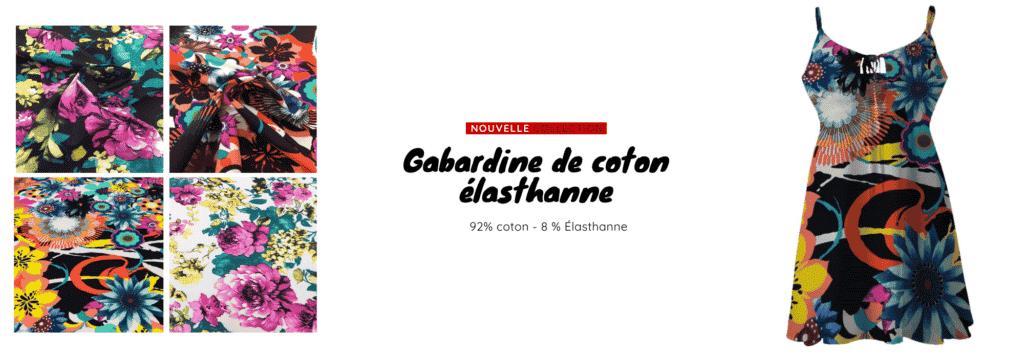 Gabardine de coton