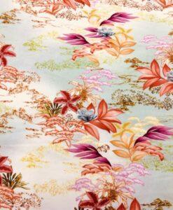 Gabardine de coton fleurs de lys