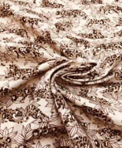 Gabardine de coton jungle