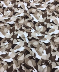Tissu gabardine de coton perroquet ton beige