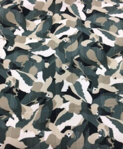 Tissu gabardine de coton perroquet ton vert
