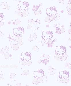 Tissu coton Hello Kitty цветок