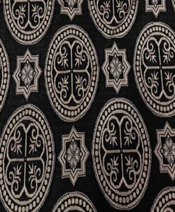 Tissu polyester motif paisley