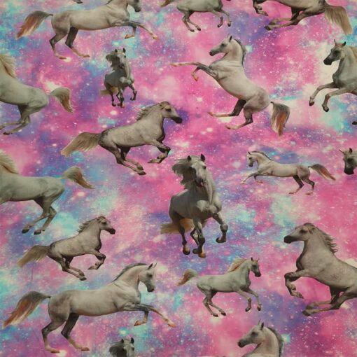 Tissu jersey de coton cheval magic
