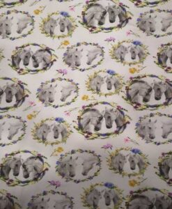 Tissu jersey de coton cheval et jument