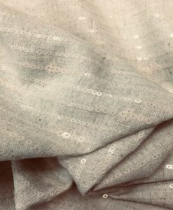 Tissu lin viscose pailleté