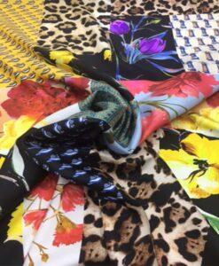 Satin de soie haute couture patchwork 2
