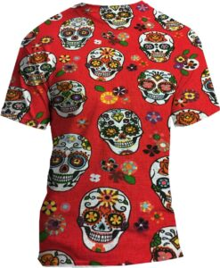 pattern printed cotton fabric red skull
