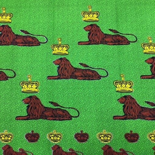 Tissu Wax lion royal