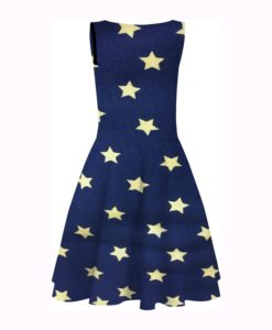 printed cotton Lycra star Wonder Woman