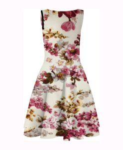 Rosa Baumwollgewebe gedruckt flowered Pfaden