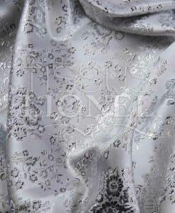 Lurex Jacquard-Weiß und Silber