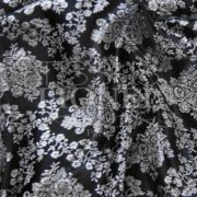 jacquard lurex noir et argent
