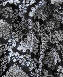 lurex jacquard negro y plata