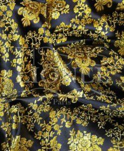 jacquard lurex noir et or