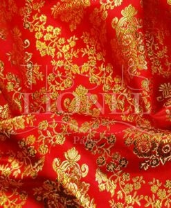 lurex jacquard rojo y oro